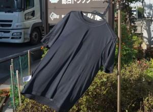 風になびくTシャツ